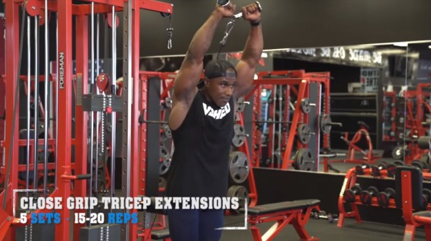 Close Grip Tricep Extensions | The Top 5 Workouts For Bigger Arms