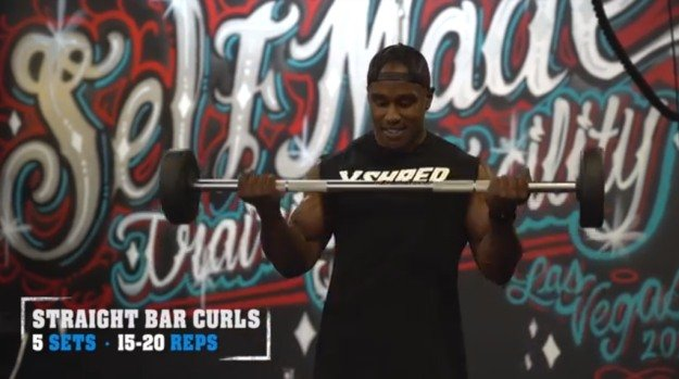 Straight Bar Curls | The Top 5 Workouts For Bigger Arms