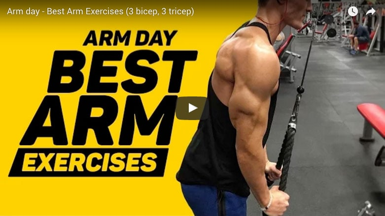 Arm Day Workout – Best Arm Exercises (3 bicep, 3 tricep)